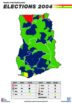 Results of the parliamentary elections 2004