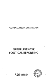 Guidelines for political reporting