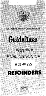 Guidelines for the publication of rejoinders